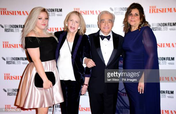 Francesca Scorsese Helen Morris Martin Scorsese and Cathy Scorsese attending the Closing Gala and International premiere of The Irishman held as part...