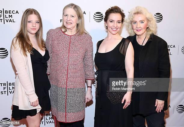 Francesca Scorsese Helen Scorsese Domenica Cameron Scorsese and Julia Cameron attend Almost Paris Premiere 2016 Tribeca Film Festival at Chelsea Bow...