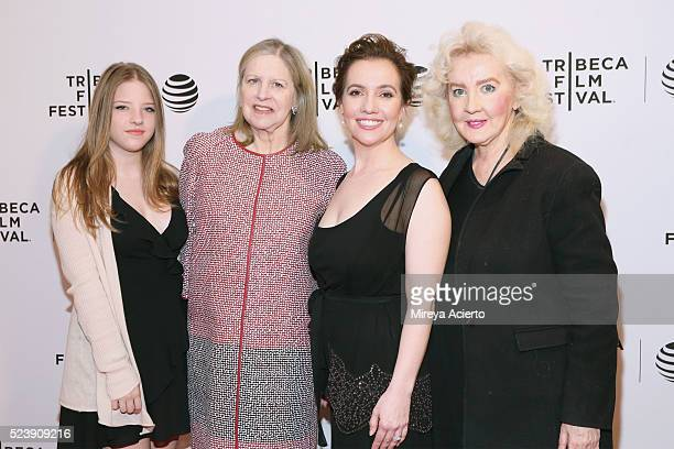 Francesca Scorsese Helen Scorsese Domenica Cameron Scorsese and Julia Cameron attend the Almost Paris premiere during 2016 Tribeca Film Festival at...