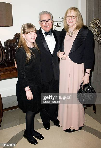 Francesca Scorsese Martin Scorsese and Helen Morris attend the after party for the Royal film performance of Hugo in 3D at the Corinthia Hotel on...