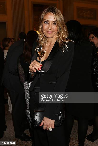 Francesca Senette attends the Fondazione IEO CCM Christmas Dinner For on December 16 2014 in Monza Italy