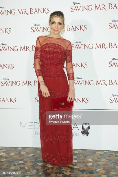 Francesca Senette attends the 'Saving Mr Banks' premiere at The Space Moderno on February 6 2014 in Rome Italy