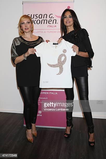 Francesca Severi and Maria Grazia Cucinotta attend the Maria Grazia Severi presentation as part of Milan Fashion Week Womenswear Autumn/Winter 2014...