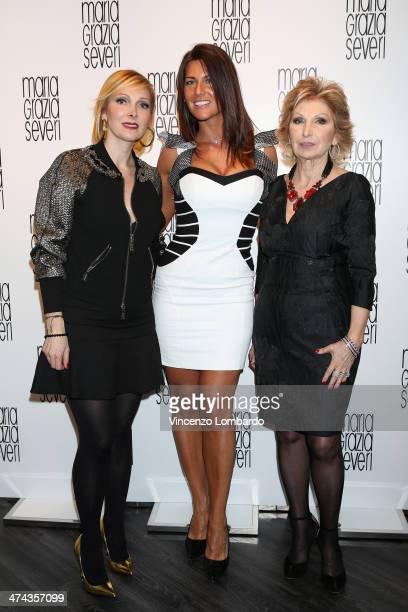 Francesca Severi, Barbara Pedrotti and Maria Grazia Severi attend the Maria Grazia Severi presentation as part of Milan Fashion Week Womenswear...