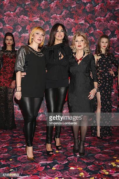 Francesca Severi, Maria Grazia Cucinotta and Maria Grazia Severi attend the Maria Grazia Severi presentation as part of Milan Fashion Week Womenswear...