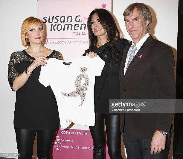 Francesca Severi, Maria Grazia Cucinotta and Riccardo Masetti attend the Maria Grazia Severi presentation as part of Milan Fashion Week Womenswear...