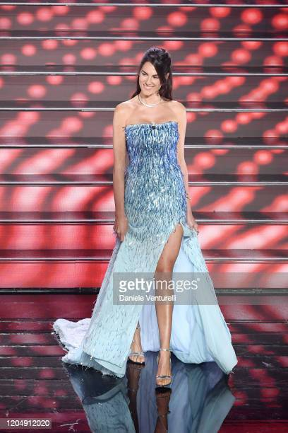 Francesca Sofia Novello attends the 70° Festival di Sanremo at Teatro Ariston on February 08 2020 in Sanremo Italy