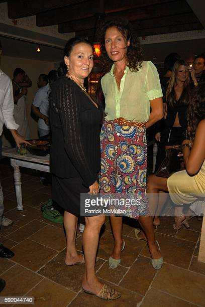 Francesca Sorrenti and Jacqueline Schnabel attend Milla by Milla Jovovich Party at Milla Jovovich Home on September 13 2005 in New York City