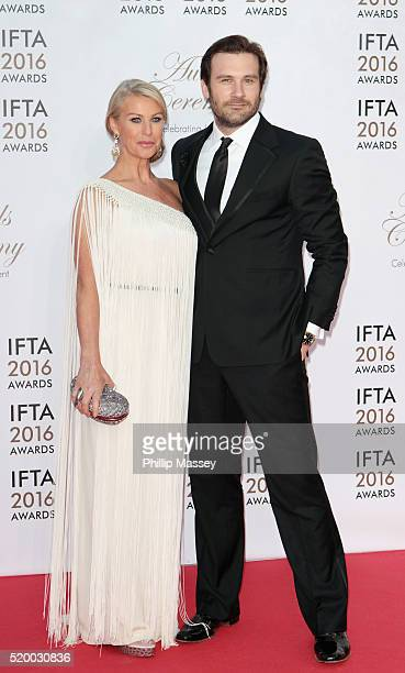 Francesca Standen and Clive Standen attend the 2016 IFTA Film Drama Awards at Mansion House on April 9 2016 in Dublin Ireland