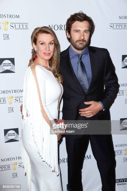 Francesca Standen and Clive Standen attend the 2017 Creative Coalition Spotlight Initiative Gala Awards Dinner at STK Toronto on September 9 2017 in...