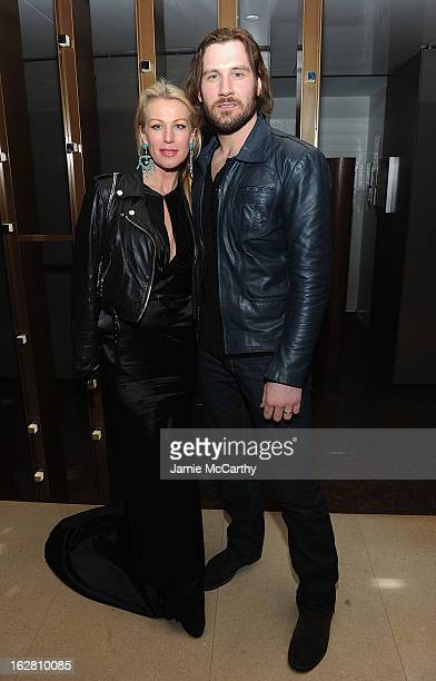 Francesca Standen and Clive Standen attend the Bank Of America And Food Wine With The Cinema Society Screening Of A Place At The Table After Party at...