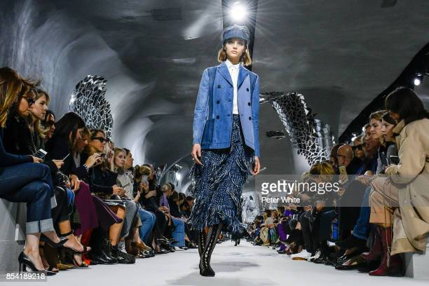 Francesca Summers walks the runway during the Christian Dior show as part of the Paris Fashion Week Womenswear Spring/Summer 2018 on September 26,...