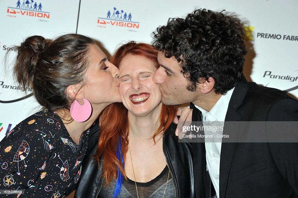 Francesca Valtorta, Francesca Marino and Fabrizio Colica attend the Fabrique Du Cinema Awards In Rome on December 7, 2016 in Rome, Italy.