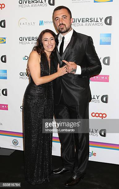 Francesca Vecchioni and Chef Rubio attend the Diversity Media Awards Gala on May 23 2016 in Milan Italy