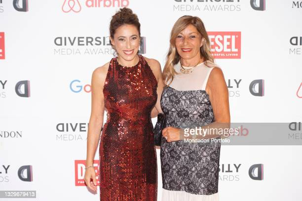 Francesca Vecchioni and her mother Irene Bozzi attends the red carpet of the Diversity Media Awards 2021. Franco Parenti Theater. Milan , July 19th,...