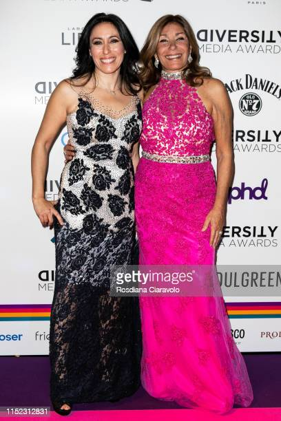 Francesca Vecchioni and Irene Bozzi attend the Diversity Media Awards 2019 at Alcatraz on May 28 2019 in Milan Italy
