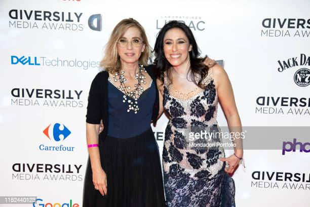 Francesca Vecchioni and italian journalist Concita De Gregorio during the Awards ceremony for the Diversity Media Awards 2019 a human rapsody at...