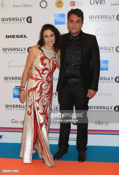 Francesca Vecchioni and Mario Colamarino attend Diversity Media Awards Charity Gala Dinner on May 29 2017 in Milan Italy