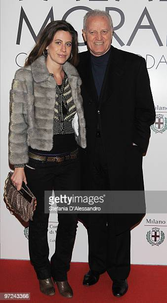 Francesca Vercace and Santo Versace attend the opening of new exhibition space at Palazzo Morimondo dedicated to fashion and costume on March 1, 2010...