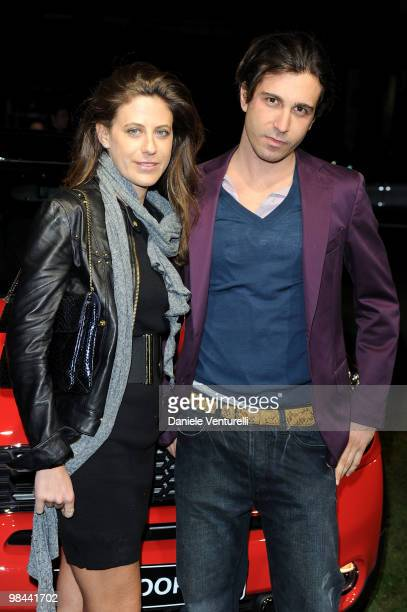 Francesca Versace and Carlo Mazzoni attend the MINI Countryman Picnic event on April 13, 2010 in Milan, Italy.