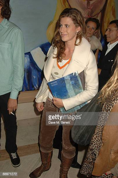 Francesca Versace attends the private view for Julian Schnabel's Pintura Del Figlo XXI his first show in 6 years at 38 Dover Street on October 19...
