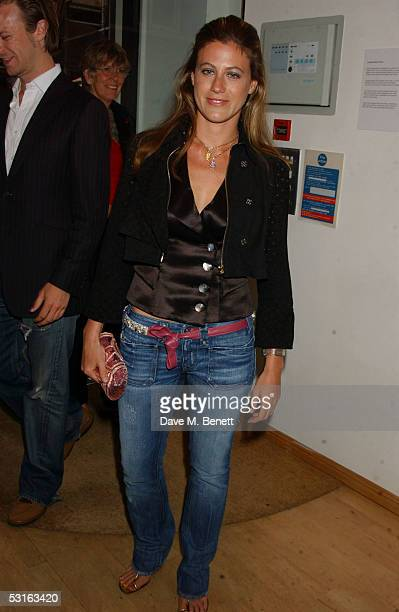 Francesca Versace attends The Sixties Set An Inside View By Robin DouglasHome at the Air Gallery June 28 2005 in London England The exhibition...
