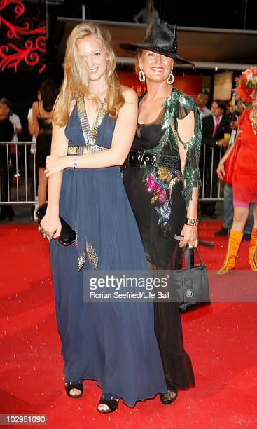 Francesca von Habsburg and daughter Eleonore of Austria attend the 18th Life Ball at the Town Hall on July 17 2010 in Vienna Austria The Life Ball is...