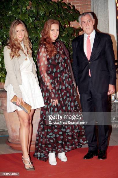Francesca von Habsburg and her daughter Eleonore of Austria attend the 25th anniversary of Thyssen-Bornemisza Museum on October 30, 2017 in Madrid,...