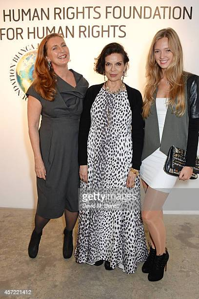 Francesca von Habsburg Bianca Jagger and Eleonore von Habsburg attend the Bianca Jagger Human Rights Foundation 'Arts for Human Rights' benefit gala...