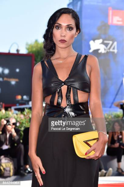 Francesca Vox walks the red carpet ahead of the 'Hannah' screening during the 74th Venice Film Festival at Sala Grande on September 8 2017 in Venice...