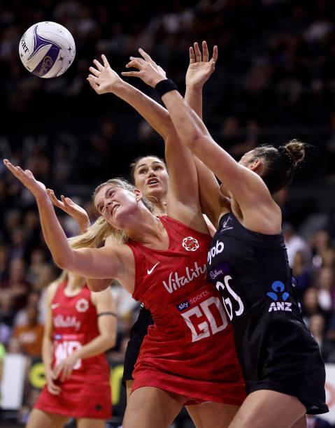 NZL: Cadbury Netball Series Game 1 - New Zealand Silver Ferns v England Roses