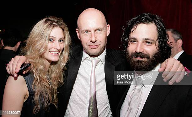 Francesca Zampi Lex Fenwick and Simon Hammerstein inside the afterparty hosted by Bloomberg following the White House Correspondents' Association...