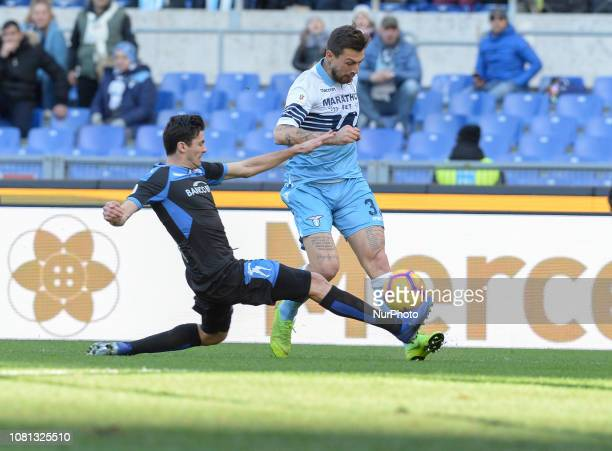 Francesco Acerbi during the Italian Cup football match between SS Lazio and Novara at the Olympic Stadium in Rome on January 12 2019