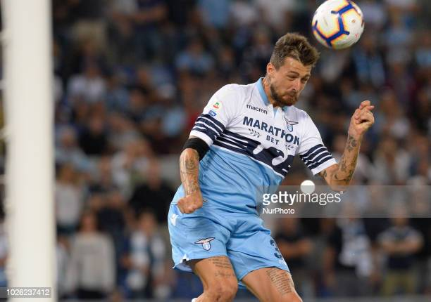 Francesco Acerbi during the Italian Serie A football match between SS Lazio and Frosinone at the Olympic Stadium in Rome on september 02 2018