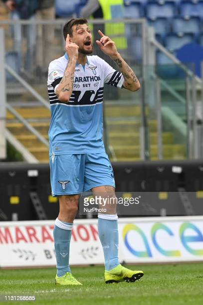 Francesco Acerbi during the Italian Serie A football match between SS Lazio and Parma at the Olympic Stadium in Rome on march 17 2019