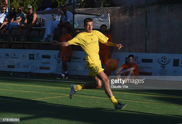 Francesco Acerbi in action during the Porto Cervo Summer 2015 Fiveaside Football Tournament Day One on June 25 2015 in Porto Cervo Italy