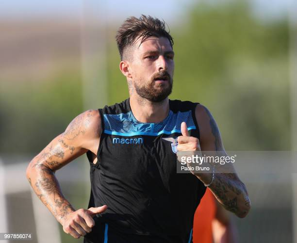 Francesco Acerbi in action during the SS Lazio training session on July 13 2018 in Rome Italy