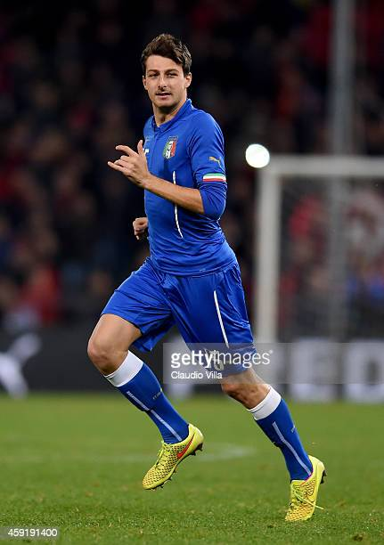 Francesco Acerbi of Italy during the International Friendly match between Italy and Albania at Luigi Ferraris on November 18 2014 in Genoa Italy