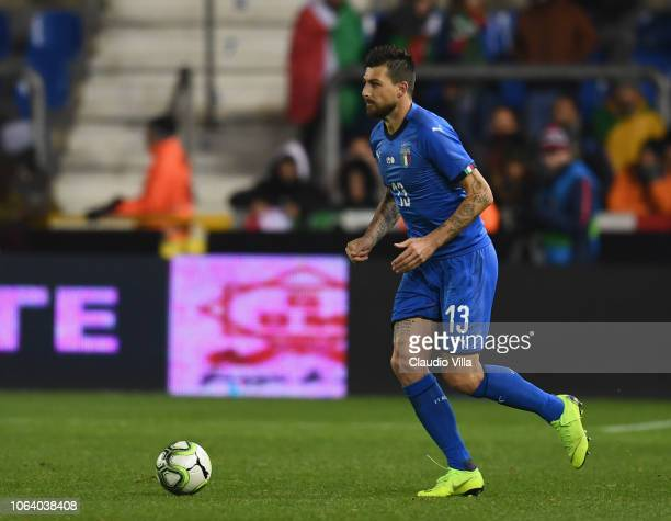 Francesco Acerbi of Italy in action during the friendly match between Italy and Usa played at Luminus Arena on November 20 2018 in Genk Belgium
