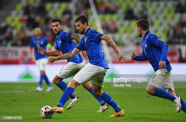 Francesco Acerbi of Italy in action during the UEFA Nations League group stage match between Poland and Italy at Gdansk Stadium on October 11, 2020...