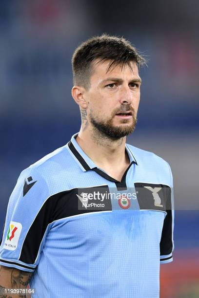 Francesco Acerbi of SS Lazio during the Italian Cup match between Lazio and Cremonese at Stadio Olimpico Rome Italy on 14 January 2020