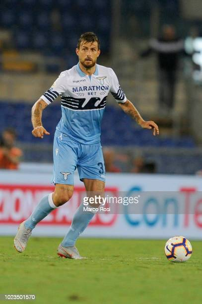Francesco Acerbi of SS Lazio during the serie A match between SS Lazio and SSC Napoli at Stadio Olimpico on August 18 2018 in Rome Italy