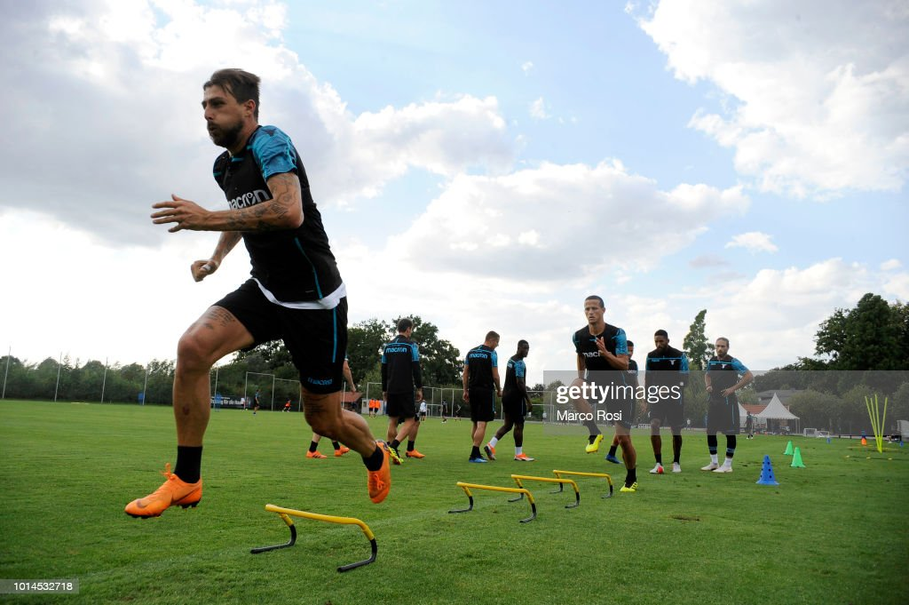 Francesco Acerbi of SS Lazio during the SS Lazio training session on August 10, 2018 in Marienfeld, Germany.