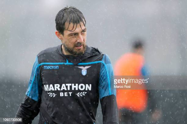 Francesco Acerbi of SS Lazio during the SS Lazio training session on February 2 2019 in Rome Italy