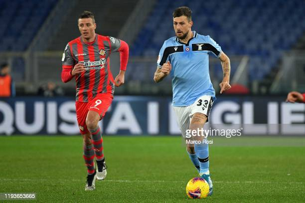Francesco Acerbi of SS lazio in action during the Coppa Italia match between SS Lazio and US Cremonese at Olimpico Stadium on January 14 2020 in Rome...