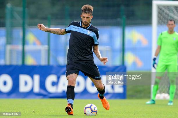 Francesco Acerbi of SS Lazio in action during the preseason friendly match between SS Lazio and Spal on July 28 2018 in Auronzo di Cadore nearBelluno...