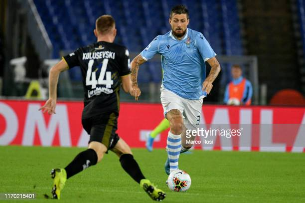 Francesco Acerbi of SS Lazio in action during the Serie A match between SS Lazio and Parma Calcio at Stadio Olimpico on September 22 2019 in Rome...