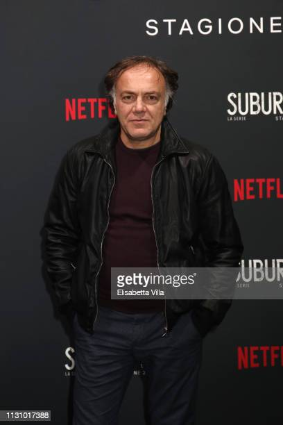 Francesco Acquaroli attends the after party for Netflix Suburra The Series season 2 launch at Circolo Degli Illuminati on February 20 2019 in Rome...