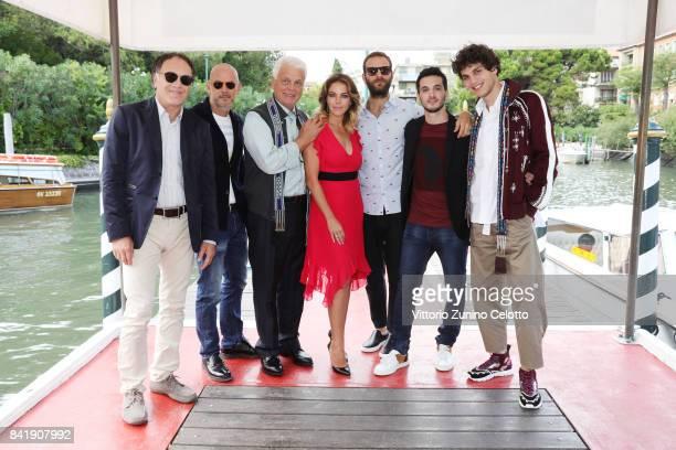 Francesco Acquaroli Filippo Nigro Michele Placido Claudia Gerini Alessandro Borghi Giacomo Ferrara and Eduardo Valdarnini attend the 'Suburra The...