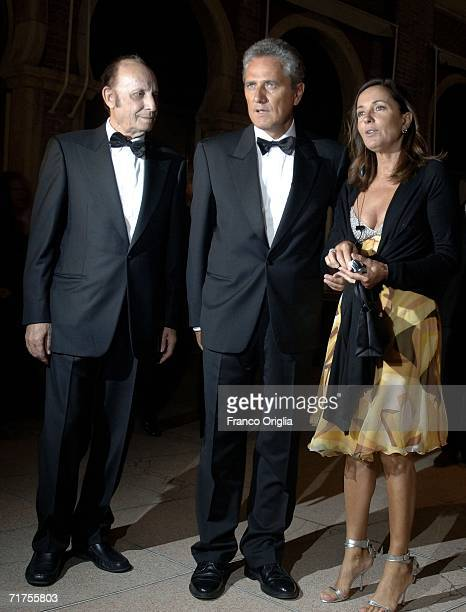 Francesco Alberoni Francesco Rutelli and wife Barbara Palombelli arrives at the party to celebrate the opening ceremony and 'The Black Dahlia'...